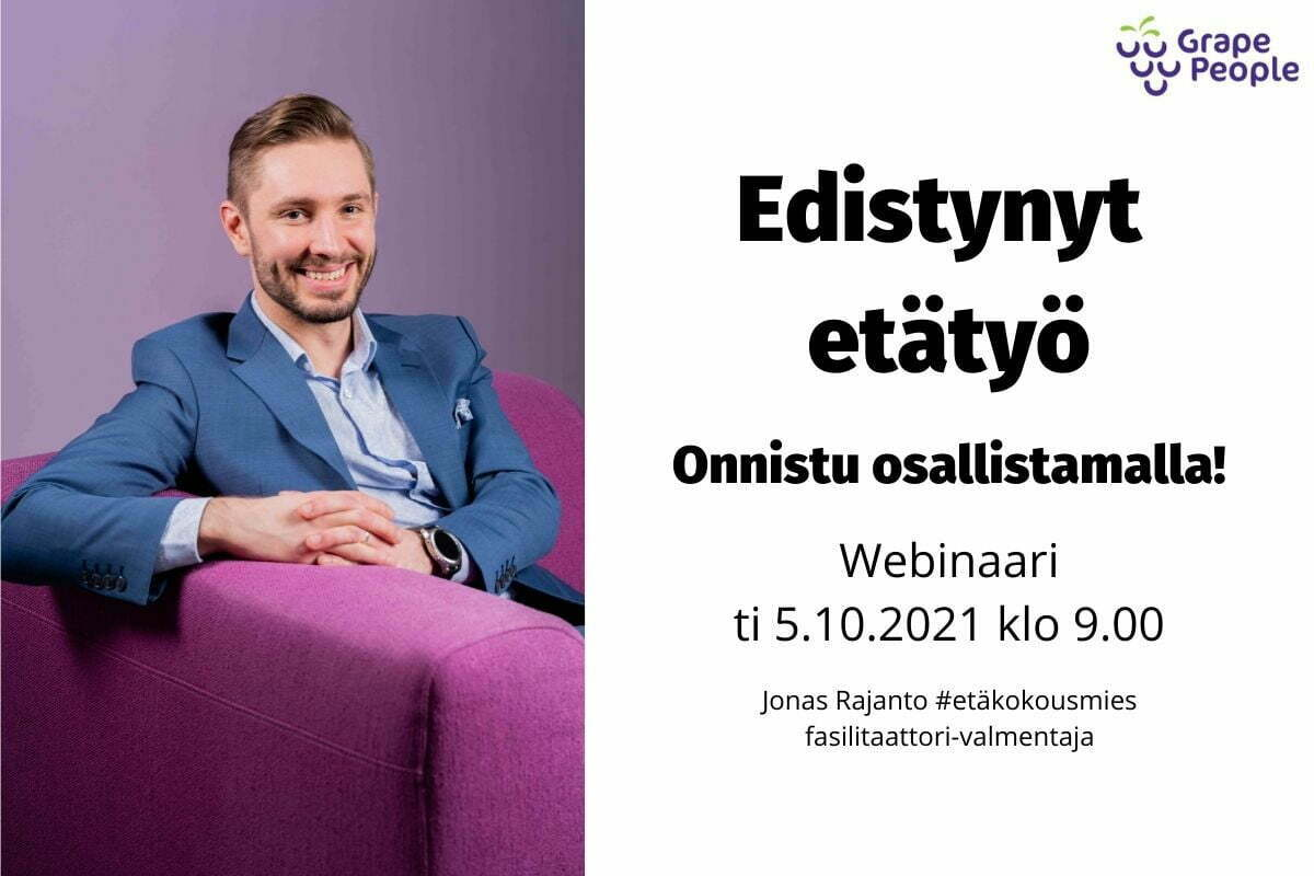 Edistynyt etätyö -webinaari, Jonas Rajanto